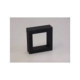 Luxusní koženková krabička, 70x70x25, černá