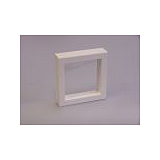 Luxusní koženková krabička, 100x100x25, bílá