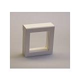 Luxusní koženková krabička, 70x70x25, bílá