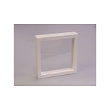 Luxusná koženková krabička, 150x150x25, biela