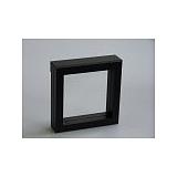 Luxusná koženková krabička, 100x100x25, čierna