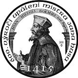 Stříbrná investiční medaile k výročí 600 let od upálení Mistra Jana Husa 1415 - 2015