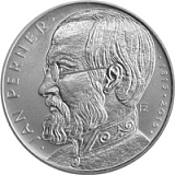 Pamětní stříbrná mince, 200Kč Jan Perner proof