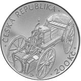 Pamätná strieborná minca, 200Kč Josef Božek predviedol parný automobil stand