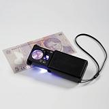Vytahovací lupa 10x LED diodami a UV lampou