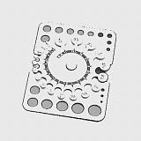 Kovový vzorník velikosti kamenů HCL4