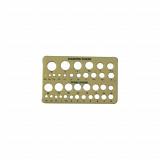 Plastový vzorník velikosti kamenů a perel HCP7