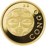 Investičná zlatá minca Royalty, 50FRANCS CFA Maska z regiónu Kongo