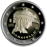 Pamätná minca, 2EUR 550. výročie úmrtia Donatella stand