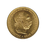 Zlatá mince, 20KORUN, František Josef I., 1896
