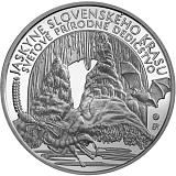 Pamětní stříbrná mince, 10EUR Světové přírodní dědicství – Jeskyně Slovenského krasu stand