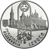 Pamätná strieborná minca, 20EUR Pamiatková rezervácia Levoča a 500. výročie dokončenia hlavného oltára v kostole sv. Jakuba stand