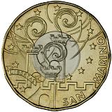 """Pamätná minca, 5EUR """"30. výročie narodenia Marca Simoncelliho"""" stand"""