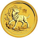 Investiční zlatá mince Lunární série - rok psa 3000AUD 1 000 g