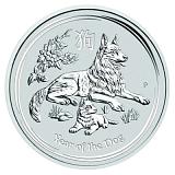 Investiční stříbrná mince Lunární série - rok psa 1AUD 1 oz
