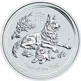 Investiční stříbrná mince Lunární série - rok psa 5AUD 5 oz