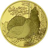 """Pamětní zlatá mince, 100EUR """"Divoká zvířata - Tetřev"""" proof"""