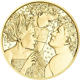 """Pamětní zlatá mince, 50EUR """"Vídeňská škola psychoterapie - Alfred Adler"""" proof"""