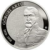 Pamětní stříbrná mince, 10000HUF 200. výročí narození Artúra Görgei a 170. výročí Revoluce 1848-49 a Války o nezávislost proof
