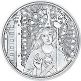 """Pamětní stříbrná mince, 10EUR """"Strážní andělé - Rafael"""" proof"""