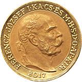Zlatá 100 koruna k 150. výročiu korunovácie Františka Jozefa I.