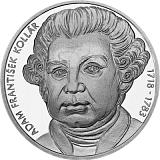 Pamětní stříbrná mince, 10EUR Adam František Kollár – 300. výročí narození stand