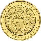 Pamětní zlatá mince, 50000HUF Albrecht II. Habsburský (1397-1439) piedfort