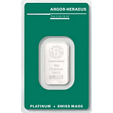 Investiční platina, slitek Argor Heraeus 10 g