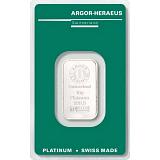 Investičná platina, zliatok Argor Heraeus 10 g