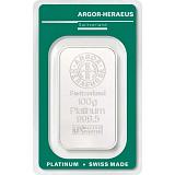 Investičná platina, zliatok Argor Heraeus 100 g