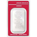 Investiční stříbro, slitek Argor Heraeus 50 g