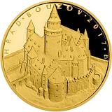 """Pamětní zlatá mince, 5000Kč Cyklus """"Hrady"""" Bouzov proof"""