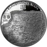 Pamětní stříbrná mince, 200Kč Vydání Klaudyánovy mapy - první mapy Čech proof