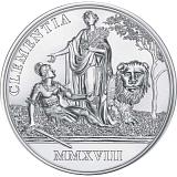 """Pamětní stříbrná mince, 20EUR """"Císařovna Marie Terezie - Milosrdenství a víra"""" proof"""
