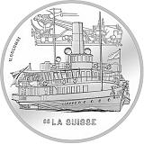 """Pamätná strieborná minca, 20CHF """"Parník La Suisse"""" proof"""