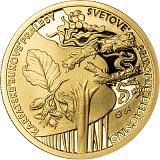 Pamětní zlatá mince, 100EUR Světové přírodní dědictví - Karpatské bukové pralesy proof