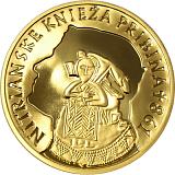 Pamětní zlatá mince, 100EUR Nitranský kníže Pribina - 1150. výročí úmrtí