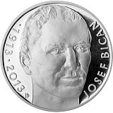 Pamätná strieborná minca, 200Kč Josef Bican proof