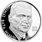 Pamětní stříbrná mince, 200Kč Tomáš Baťa ml. proof
