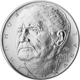 Pamětní stříbrná mince, 200Kč ke 100. výročí narození Bohumila Hrabala stand