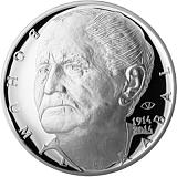 Pamětní stříbrná mince, 200Kč ke 100. výročí narození Bohumila Hrabala proof