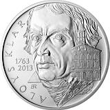 Pamätná strieborná minca, 200Kč Aloys Klar stand