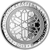 Pamätná strieborná minca, 200Kč Založenie kláštora Zlatá koruna proof
