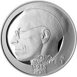 Pamätná strieborná minca, 200Kč Otto Wichterle proof