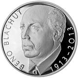 Pamätná strieborná minca, 500Kč Beno Blachut proof