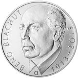 Pamätná strieborná minca, 500Kč Beno Blachut stand