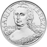 Pamětní stříbrná mince, 200Kč Marie Terezie stand