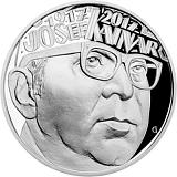 Pamätná strieborná minca, 200Kč Josef Kainar proof