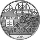 Pamětní stříbrná mince, 10EUR Plavba prvního parníku na Dunaji v Bratislavě - 200. výročí proof