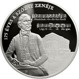 Pamětní stříbrná mince, 20000HUF 175. výročí vzniku skladby Szózat proof